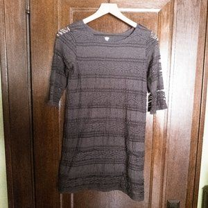 Old Navy - grey lace shift dress - youth large